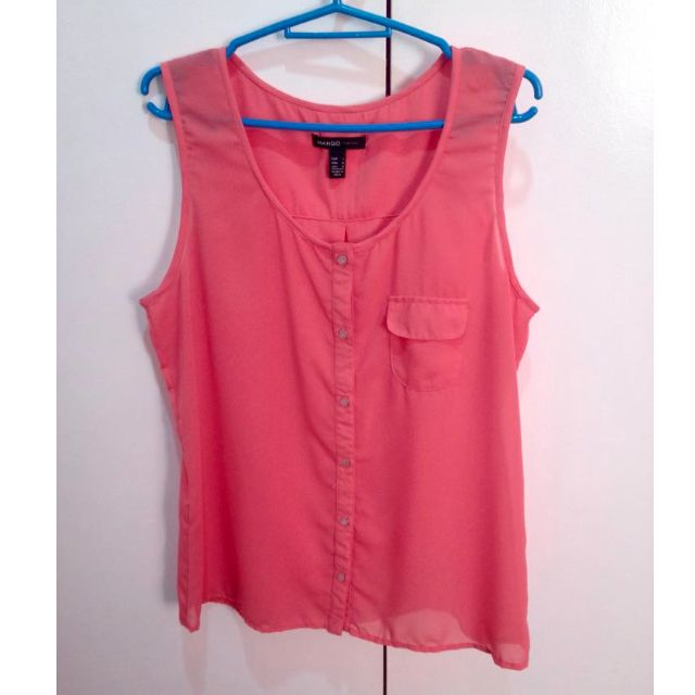Pink Sheer Top from Mango