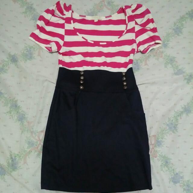 Pink Stripes Dress