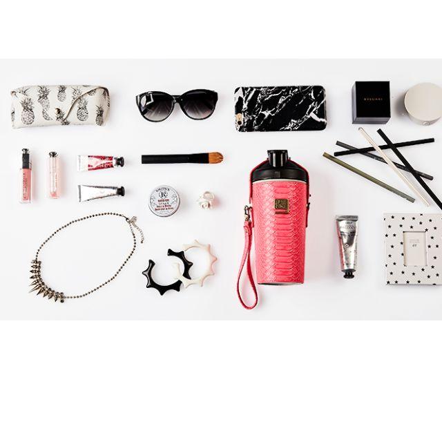 《現貨-粉桃色+皮套正品》PURENINE 智能轉鹼水壺世界第一支免濾芯
