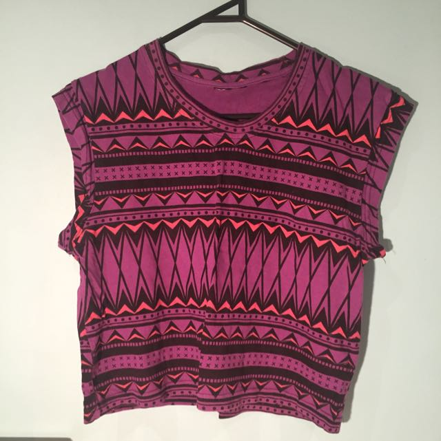Purple Patterned Top