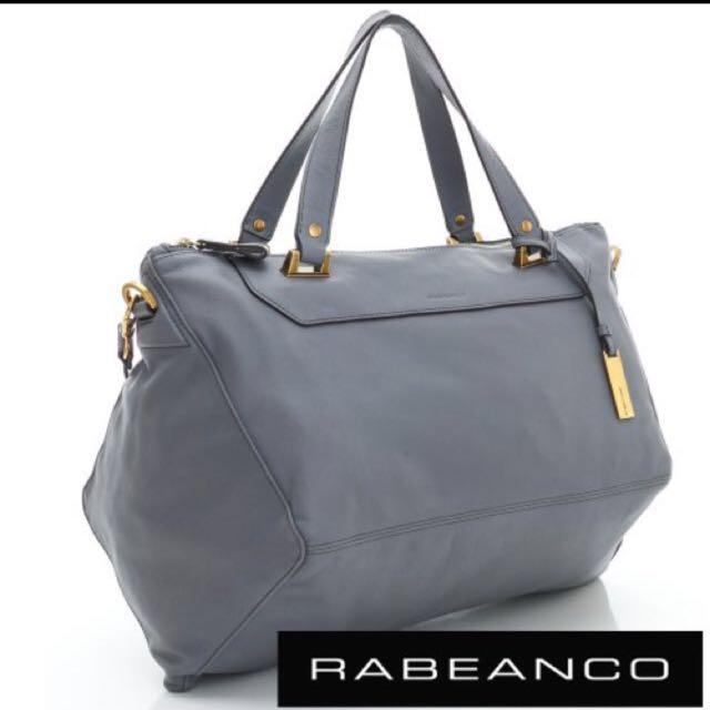 已售出-大降價賠售/RABEANCO 灰色菱型包,保證正品/真品