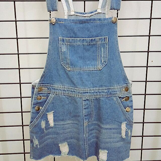 Skirt Denim Dungarees (M)