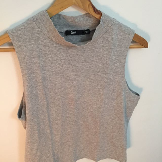 Sportsgirl Grey Crop Top