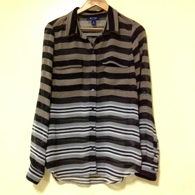 Striped Longsleeves Top