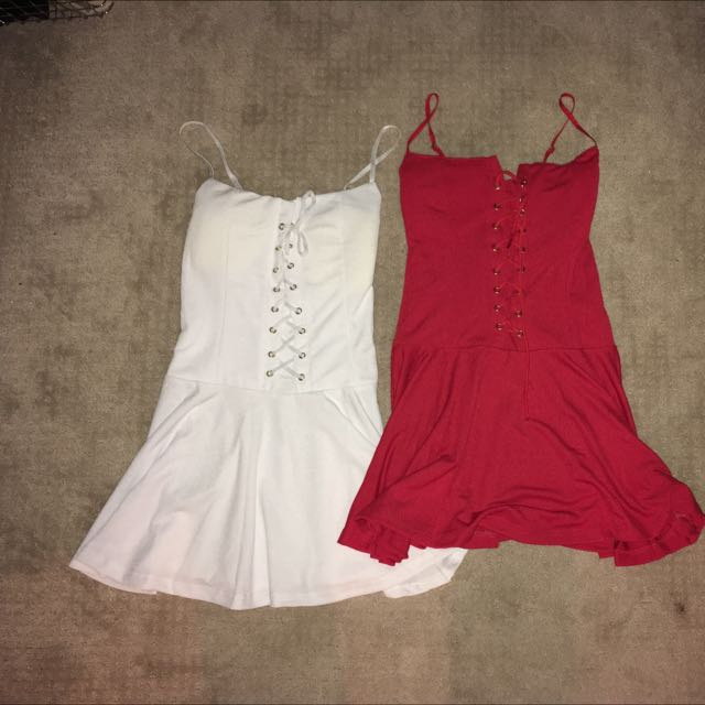 White + Red Dress