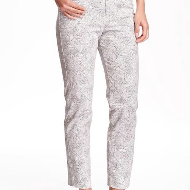 White And Grey Pants
