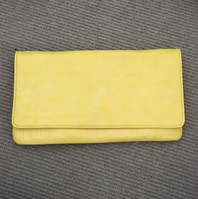 Yellow Clutch Bag