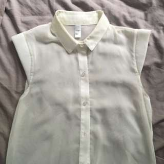 American Apparel Chiffon Shirt