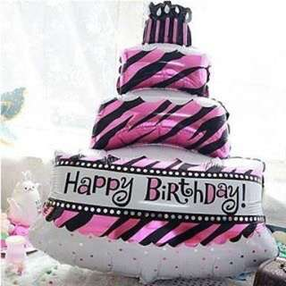 Balon Foil Cake Happy Birthday