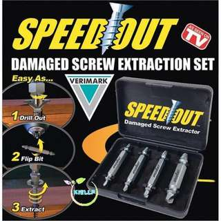 [Kiellp-BN][Home Improvement] Speed Out Screw Damage Screw Extractor Set/Bolt Remover/Speedout/Stripped Screw Remover/Effective and Easy/Remove in 10 seconds/Strip nuts [As Seen on TV]