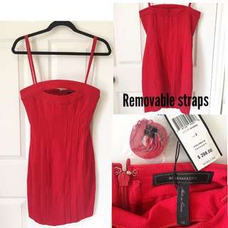 BCBG MaxAzria Strapless Red Dress