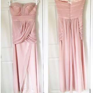 Custom-made Pale Pink Chiffon Gown
