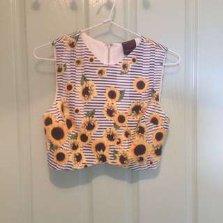 Sunflower Crop Top