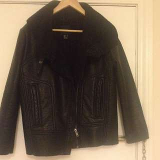 Leather Jacket - size Small