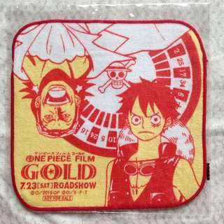 ONE PIECE FILM GOLD 航海王 2016劇場版小方巾/毛巾