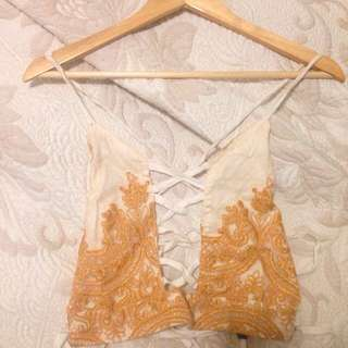 My Sunday Feeling Festival Lace Up Top