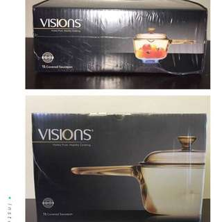 Visions 1L Covered Saucepan by Corningware