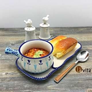 Blue Lily 波蘭瓷 - 長手柄碗盤組