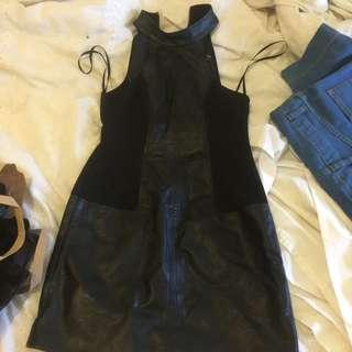 Leather Mink Pink Dress