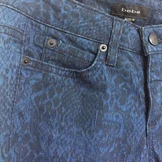 Bebe Jeans With Lace Pattern