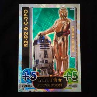 Topps Force Attax Star Wars R2-D2 & C-3PO Limited Edition Trading Card