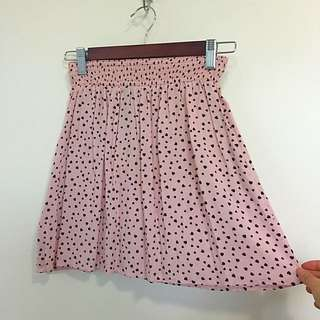 Super Cute Pink Skirt With Tiny Hearts