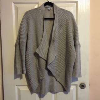 Valleygirl Light Grey Knit Cardigan