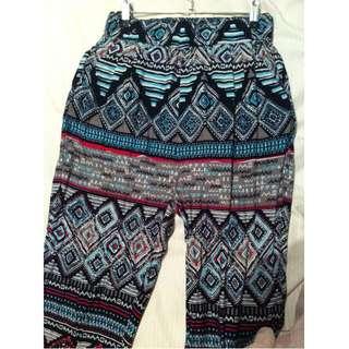 Flowy Aztec Tribal Print Pants