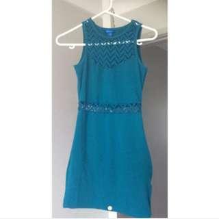 Form-fitting Dark Turquoise Dress