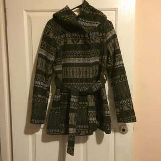 Mossimo Boho/Aztec Hooded Coat
