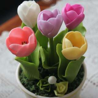 Made to order - Handmade air dried clay- tulips