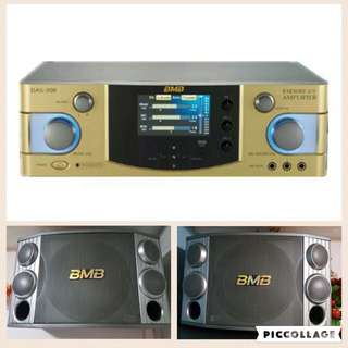 BMB DAS300 & CSX-1000 Professional Mixing Amplifier & Speakers
