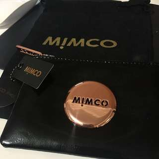 MIMCO Small Rose Gold Pouch