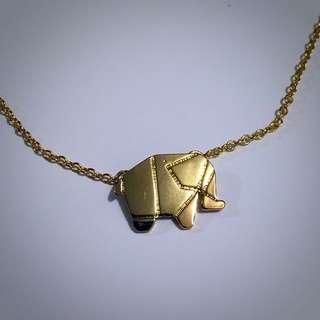 Origami Elephant Necklace