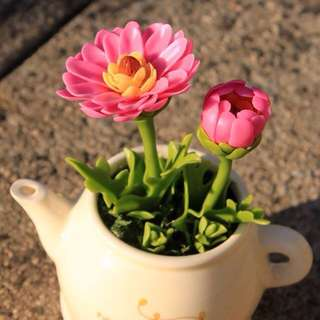 Made to order-air dried clay-Gerberas