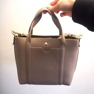 Beige two-way bag