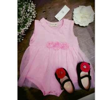 全新寶寶夢幻風包屁洋裝 尺寸2,80cm以下穿