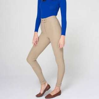 American Apparel Riding Pants Taupe