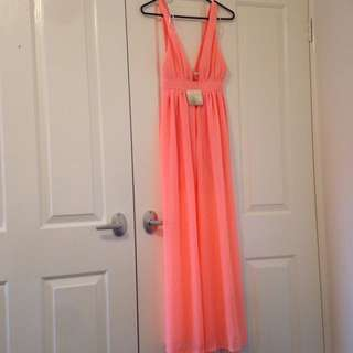 Long Bright Pink Dress