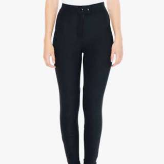 American Apparel Black Riding Pants Small