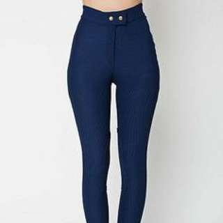 American Apparel Riding Pants Navy Small