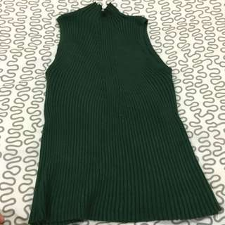 sleeveless knit stretchable top