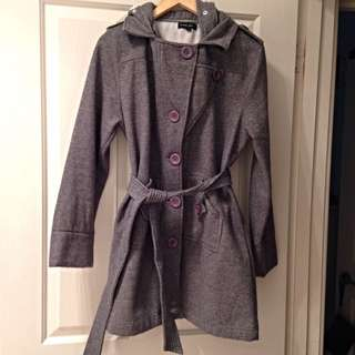 Grey Hooded Coat