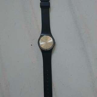 Swatch黑錶(含盒含運)