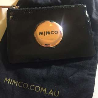 Black Leather Mimco Pouch (small)