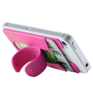 Touch U Shape Silicone Mobile Phone Stand Holder With Card Slot