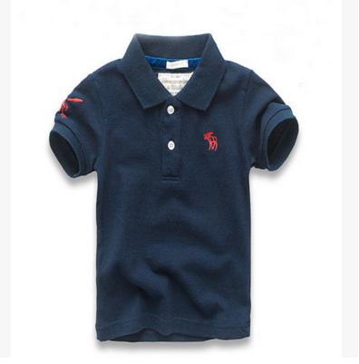 2016新款美国大牌爆版糖果色AF儿童大童纯棉polo翻领衫运动裤短袖