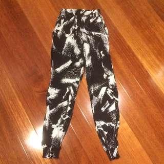 Bardot Viscose Graphic Pants Size6