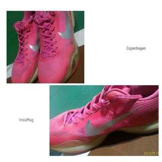 KOBE 10 Nike 籃球鞋 六成新 粉色 運動鞋