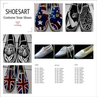 Costume Sepatu LUKIS Shoes Art